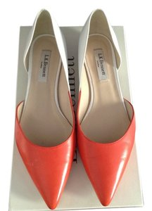 L.K. Bennett Orange and white Flats