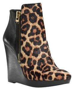 Michael Kors Clara Wedge Ankle Mid Cheetah Boots