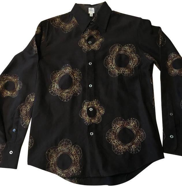 Item - Brown Effortless Button-down Top Size 6 (S)