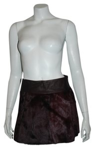 Theory Mini Skirt BURGANDY