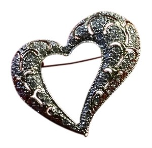 Other Marcasite heart pin