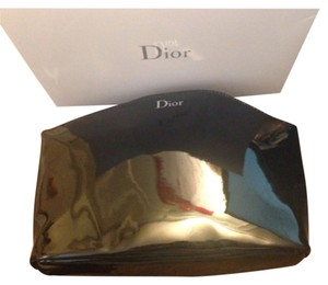 Dior Dior Logo Patent Leather Cosmetic Bag