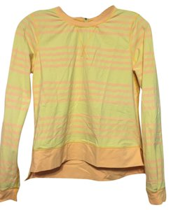 Lululemon Yellow Striped Pullover