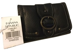 Banana Republic Banana Republic Pebbled Leather Wallet - Black