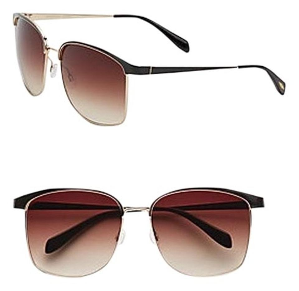 00110f456a Oliver Peoples Brown Gold Myriel Ov1103s 5114-13 Gold  Sunglasses ...