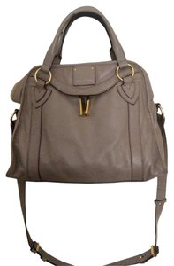Marc Jacobs Leather Satchel in Tan/Stone