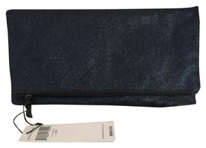 BCBGeneration Cobalt & Silver Metallic Clutch