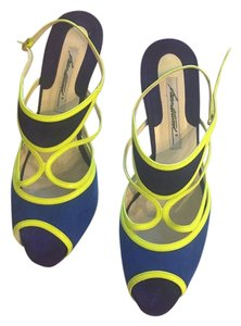 Brian Atwood Blue/Purple/Yellow Pumps