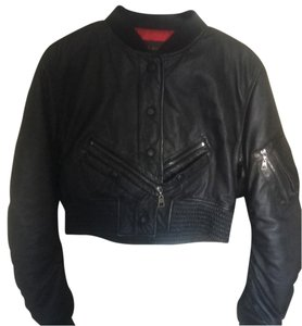 Louis Vuitton Blac Leather Jacket