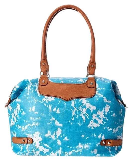 Item - New Getaway Turquoise Fabric and Leather Weekend/Travel Bag