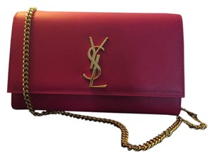 Saint Laurent Leather Monogram Gold Ysl Cross Body Bag