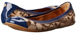 Coach Brown and blue Flats