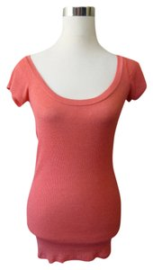 Michael Stars Scoopneck Shortsleeve Tunic Top Red