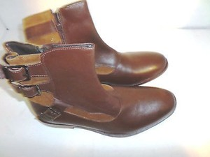 Ben Sherman Ben Sherman Mens Century Brown Leather Casual Dress Ankle Zipper Boots Shoes 9m Mens Shoes
