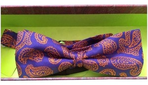 Etro Etro Milano Purple orange Bow Neck Tie