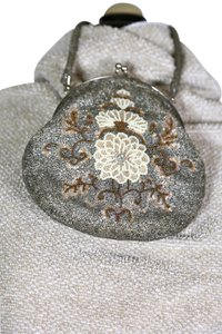 Other Beaded Vintage Evening Silver/white/bronze Clutch