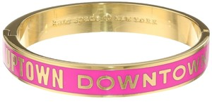 Kate Spade Kate Spade Go the Extra Mile 'Uptown Downtown' Idiom Bangle Bracelet Pink WBRU6392