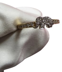Other Elephant 18K White/Yellow Gold with Diamonds Ring