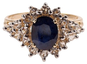 Other Vintage Blue Sapphire And White Sapphire Ring 14 kt. Gold