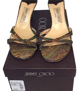 Jimmy Choo Green multi Sandals