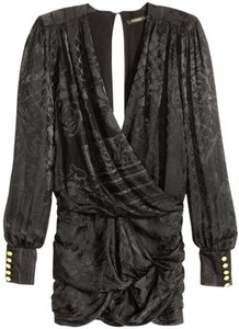Balmain X H&m Silk Weave Dress
