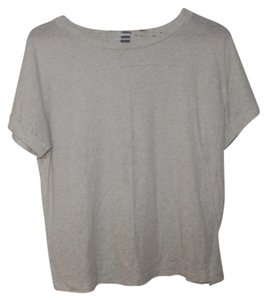 Old Navy Heather Oatmeal New T Shirt Cream