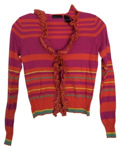 Moda International Sweater Striped Cardigan