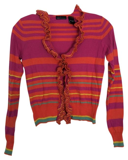 Item - Purple Orange Blue Yellow Sweater Striped Cardigan Size 0 (XS)