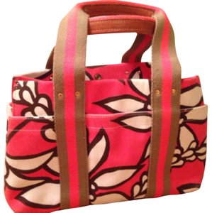 Annabel Ingall Tote in coral & tan