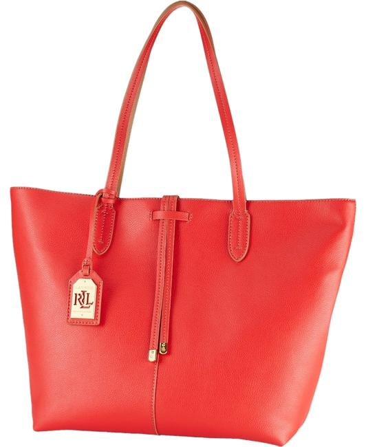 Item - Crawley Shopper Red Leather Tote