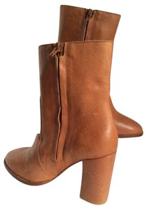 Candela Zanns Womens Omid Shaft Ozipper Sides COGNAC Boots