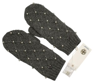 Tory Burch Tory Burch Pearl Cable Mitten Gloves