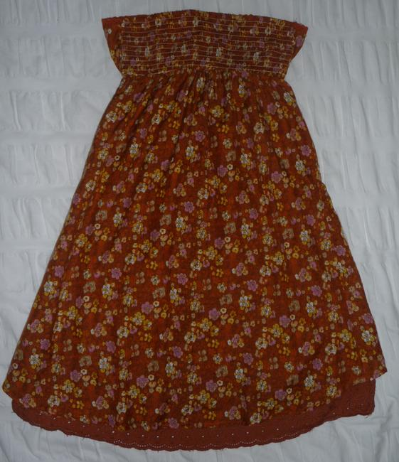 O'Neill short dress Multi Brown Strapless High Low Hem on Tradesy