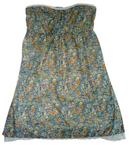 O'Neill short dress Multi Blue Strapless High Low Hem on Tradesy