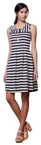 Dear Creatures short dress Cream and Navy Blue Stripes on Tradesy