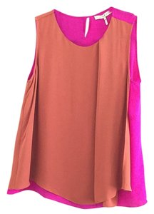 Halston Top Magenta and pumpkin