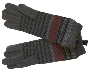 Preston & York Preston & York Sweater knit gloves Women's Gray Black Red wool blend winter