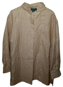 Ralph Lauren Classic Button Down Shirt beige