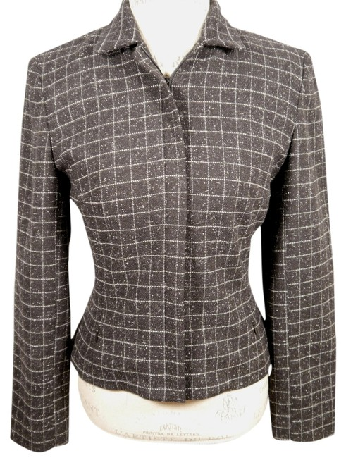 Item - Black Grey White Fully Lined Jacket and 4: Msrp Shorts Suit Size 4 (S)