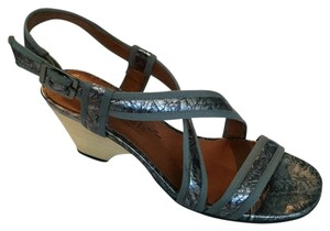 Gentle Souls Blue metallic Sandals