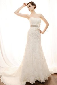 Eden Ivory/Platinum Lace Bl001 Vintage Wedding Dress Size 4 (S)