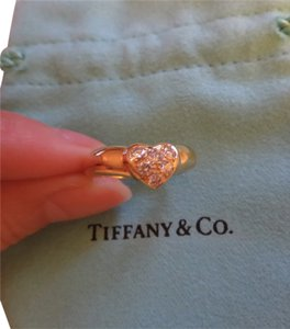 Tiffany & Co. Diamonds in Heart Shaped 18K Yellow Gold Ring
