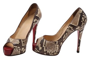 Christian Louboutin Brown/Sand Pumps