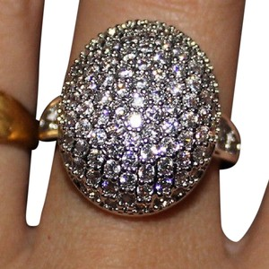 9.2.5 Stunning multi White Sapphire Royal Cluster Ring Size 9 by 9.2.5