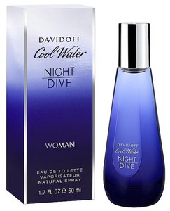 davidoff COOL WATER NIGHT DIVE by DAVIDOFF EDT Spray for Women ~ 1.7 oz / 50 ml