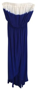 Blue Maxi Dress by Guess Maxi Silk Maxi Dip Dye