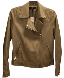 Forever 21 Taupe Leather Jacket