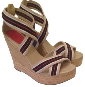 MIA Espadrille Wedge Nautical Wedges