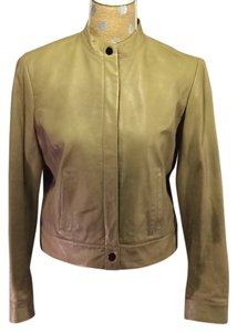 Jones New York Leather Soft tan Leather Jacket