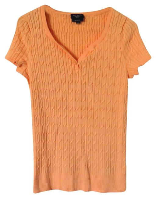 Preload https://item2.tradesy.com/images/talbots-peach-knit-sweaterpullover-size-petite-2-xs-1145601-0-0.jpg?width=400&height=650